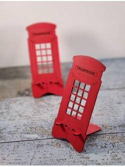TOPTAN AHŞAP LONDON TELEFON TUTUCU